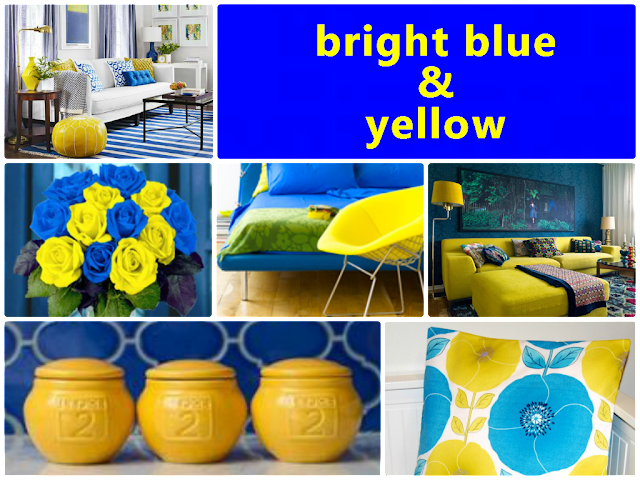 blue and yellow color combination for home decoration