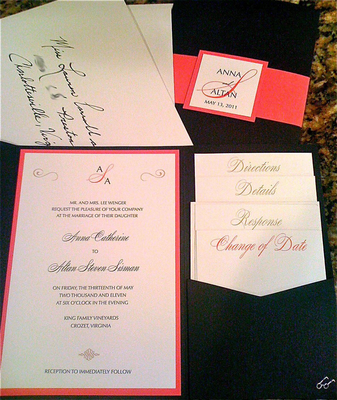 Simply handwritten diy wedding invitations and envelope etiquette