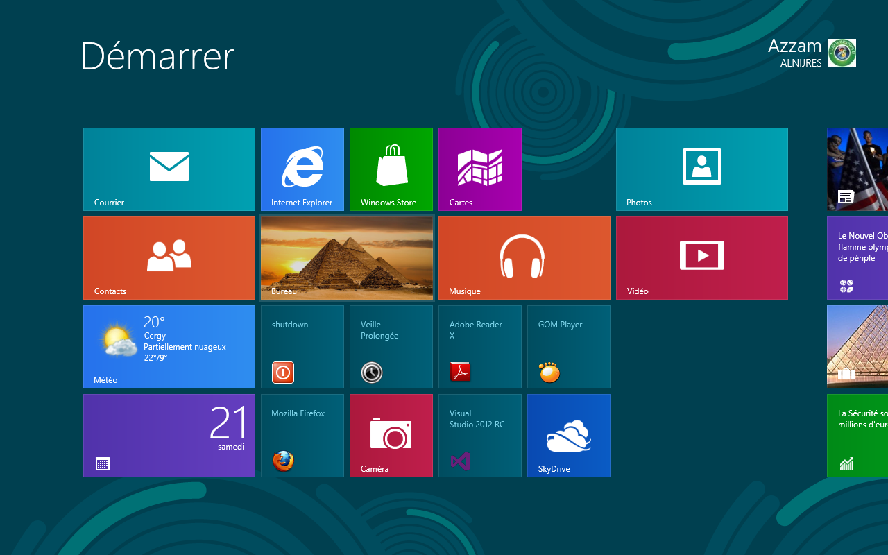 Club windows 8 d marrer windows 8 directement sur le bureau for Windows 7 bureau vide