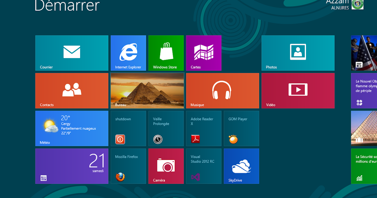 Club windows 8 d marrer windows 8 directement sur le bureau - Horloge sur le bureau windows 7 ...