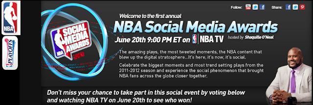Le site des NBA Social Media Awards