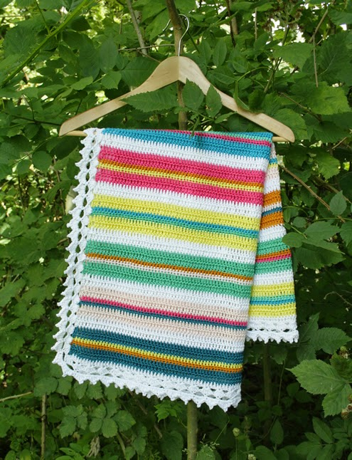Easy crochet baby blanket (PDF Pattern)