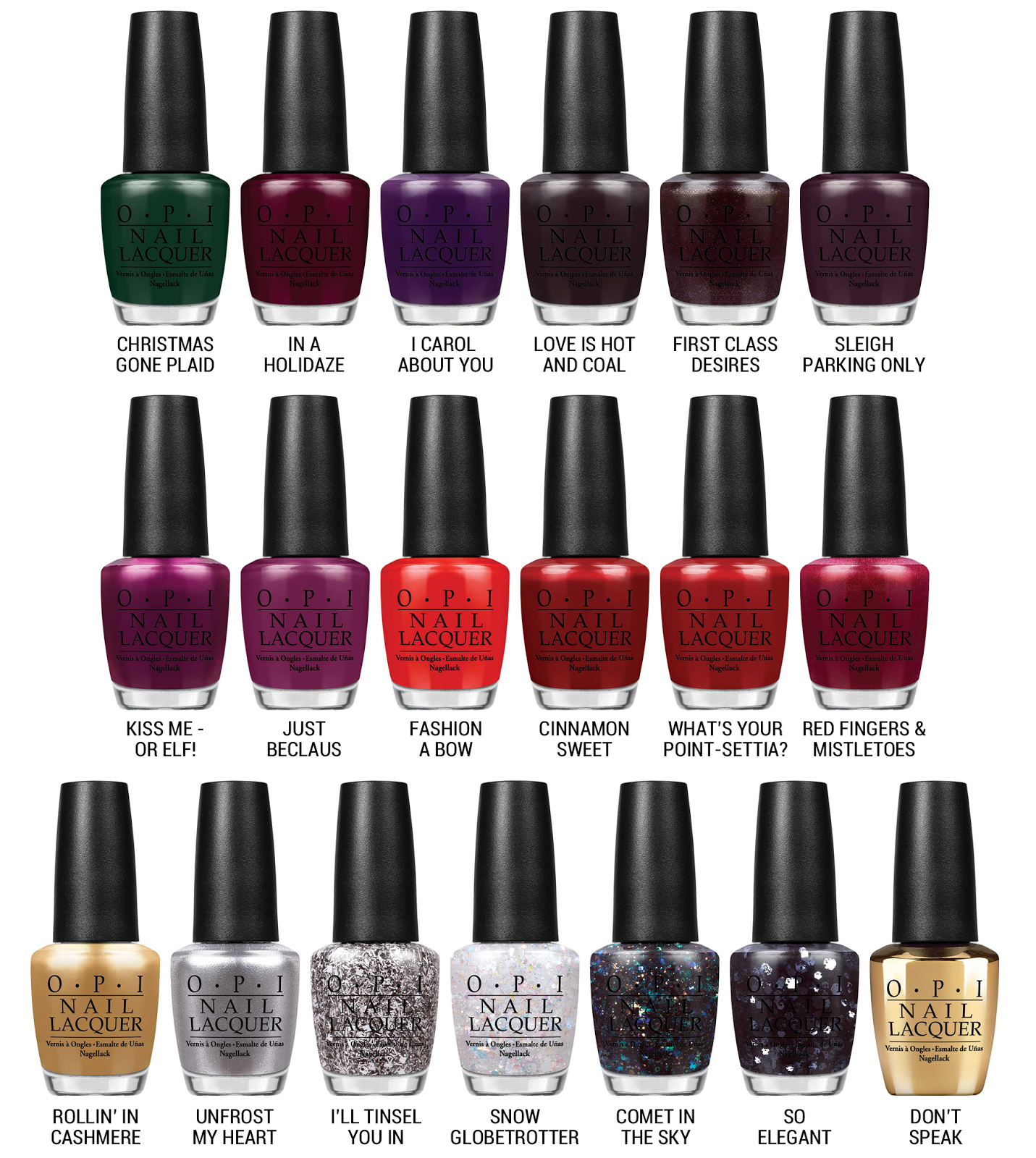OPI x Gwen Stefani for Holiday 2014 via @chalkboardnails