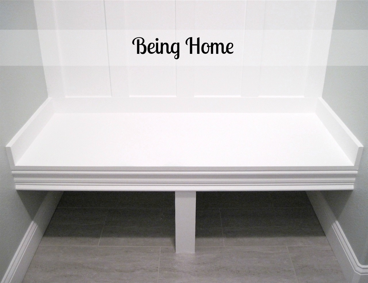 Building a Mudroom Bench – Tutorial | Being Home