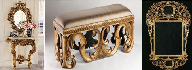 Historia del mueble 6 del barroco al rococ for Decoracion rococo