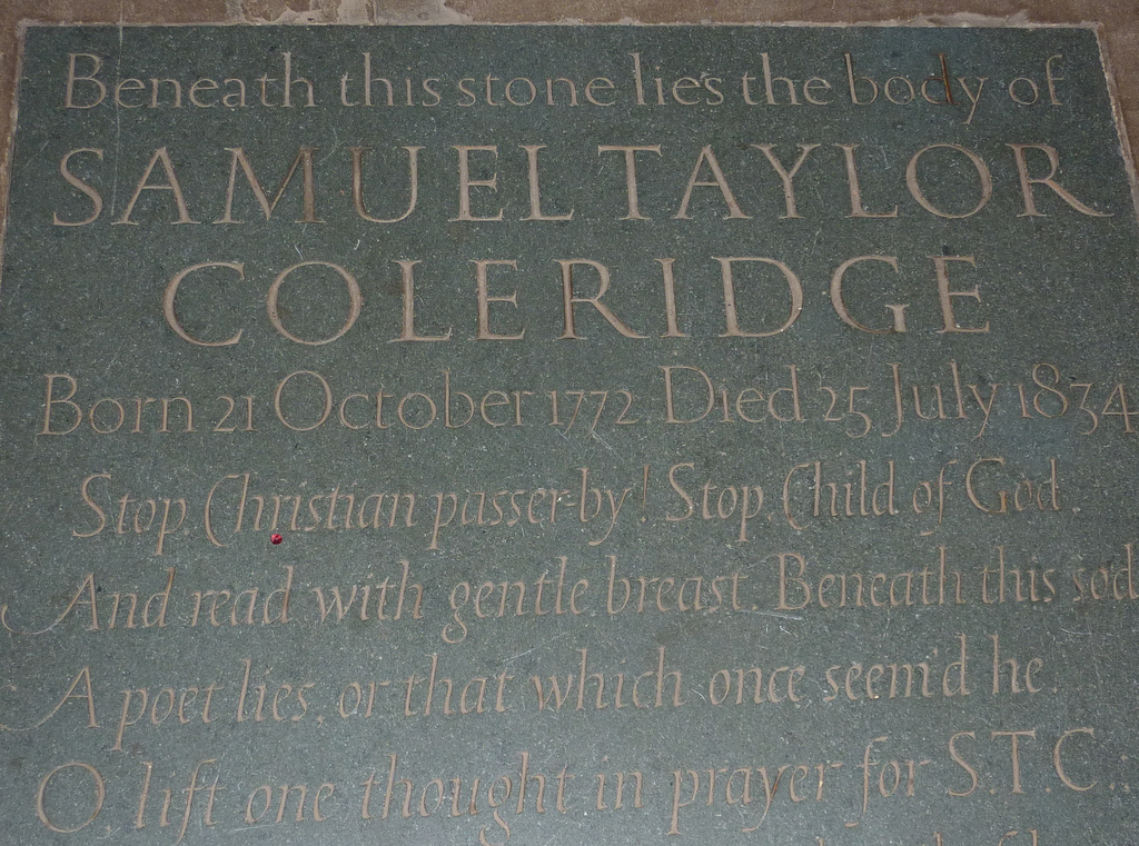 samuel taylor coleridge essays on his own times Samuel taylor coleridge (  21 october 1772 - 25 july 1834) was an english poet, literary critic, philosopher and theologian who, with his friend william wordsworth , was a founder of the romantic movement in england and a member of the lake poets.
