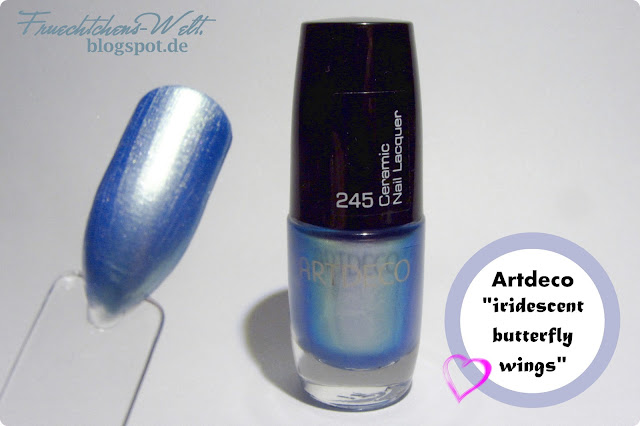 Review/ Swatches Artdeco Ceramic Nail Lacquer IRIDESCENT BUTTERFLY WINGS