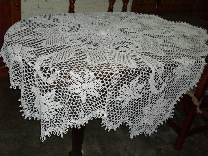 Vivicrochet visillos caminos de mesa carpetas - Mantel de crochet ...