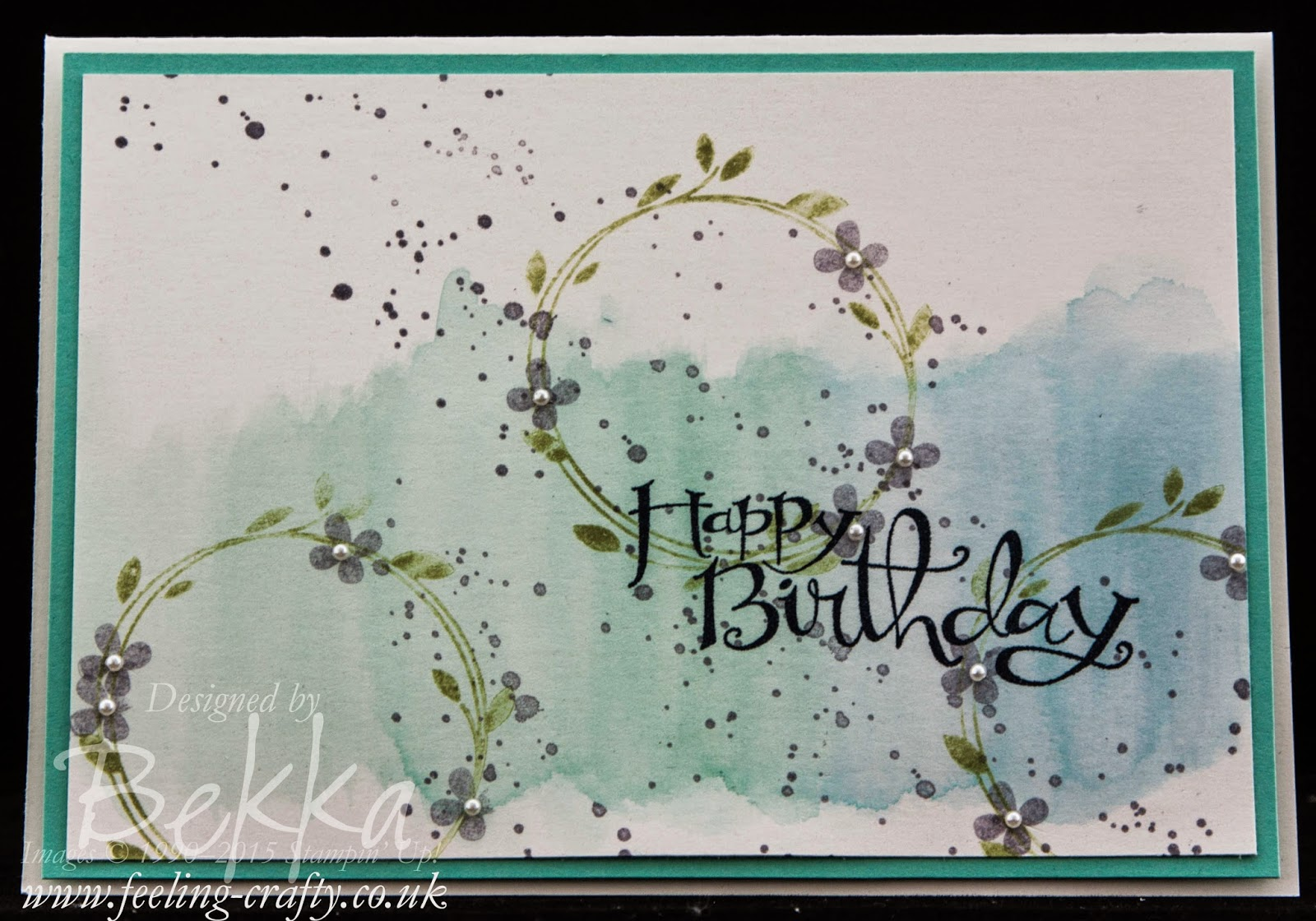 Pretty Your Perfect Day Birthday Card - check out this blog or lots of great ideas