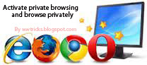 Activating private browsing on all browsers