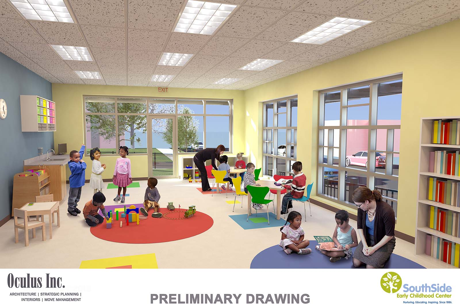 Classroom Design In Preschool : Preschool room design interior ideas
