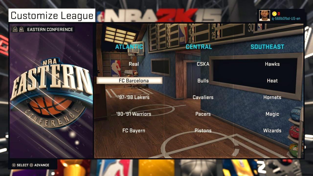 NBA 2K15 MyLeague