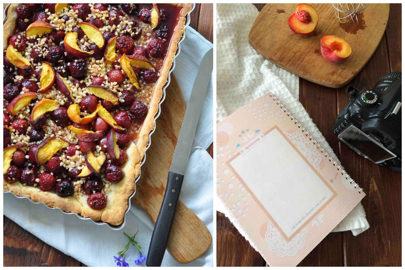 Backen Baking Pie Cherries Peach Foodphotography