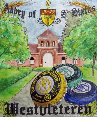 Westvleteren Abbey illustration painting