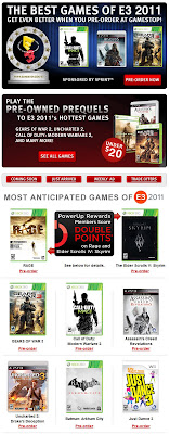 Click to view this June 10, 2011 GameStop email full-sized