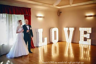 Napis LOVE na wesele Szczecin