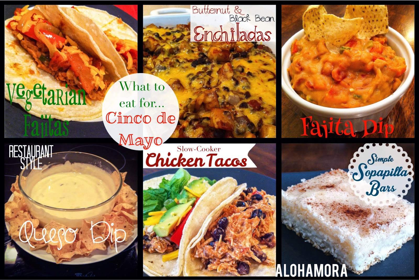 Menu Planning for Cinco de Mayo.  A list of amazing Mexican or Tex-Mex food to enjoy.  A mix of appetizers, dinner, and desserts.  Gluten Free, Vegetarian, and healthy are all options.  Alohamora Open a Book http://alohamoraopenabook.blogspot.com/