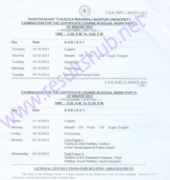MSBTE WINTER 2013 TIME TABLE PDF DOWNLOAD