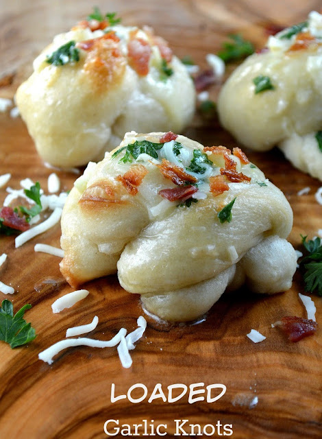 Garlic Knots with Cheese Bacon & Parsley