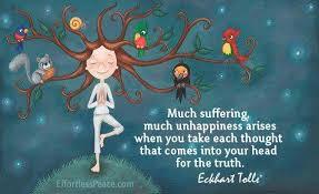 Frase de Eckhart Tolle sobre la infelicidad
