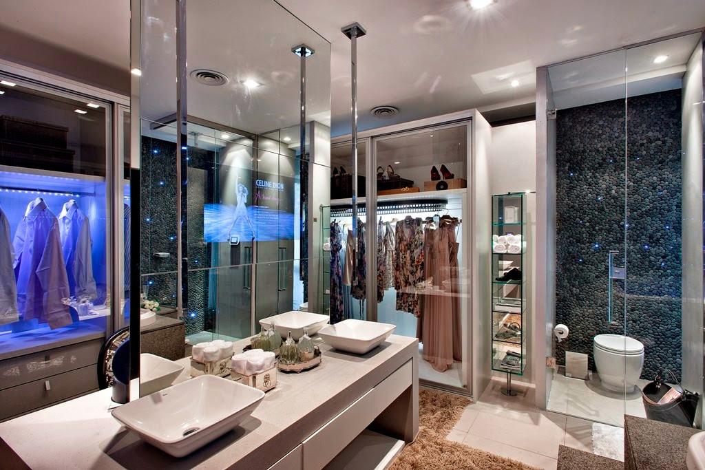 Tour Pelo Quarto Banheiro E Closet ~ Construindo Minha Casa Clean 10 Closets com Banheiros Integrados