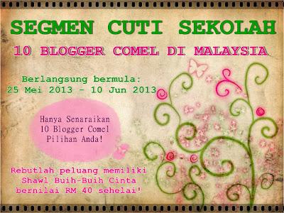 10 Blogger Comel di Malaysia