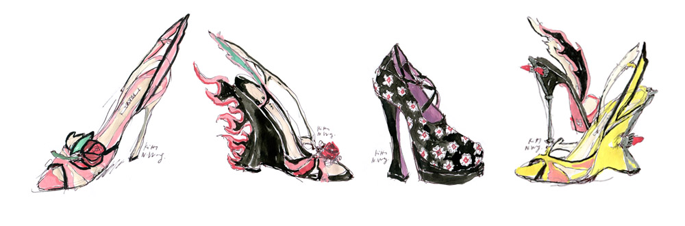 Kitty N. Wong / Pradasphere Shoe Illustration