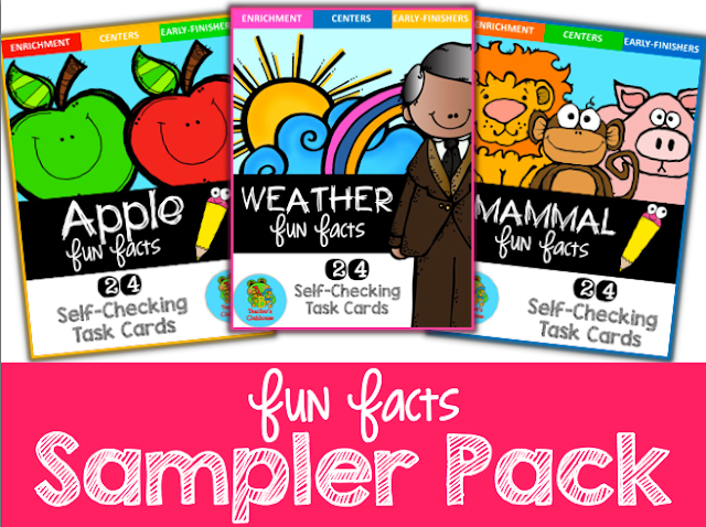 https://www.teacherspayteachers.com/Product/Fun-Facts-Sampler-Pack-Self-Checking-Task-Cards-1859109