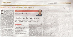 Diari El Periodico dimarts 6 de novembre del 2012