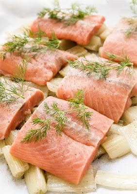Kardij in losos v škartocu - Cardoon with losos