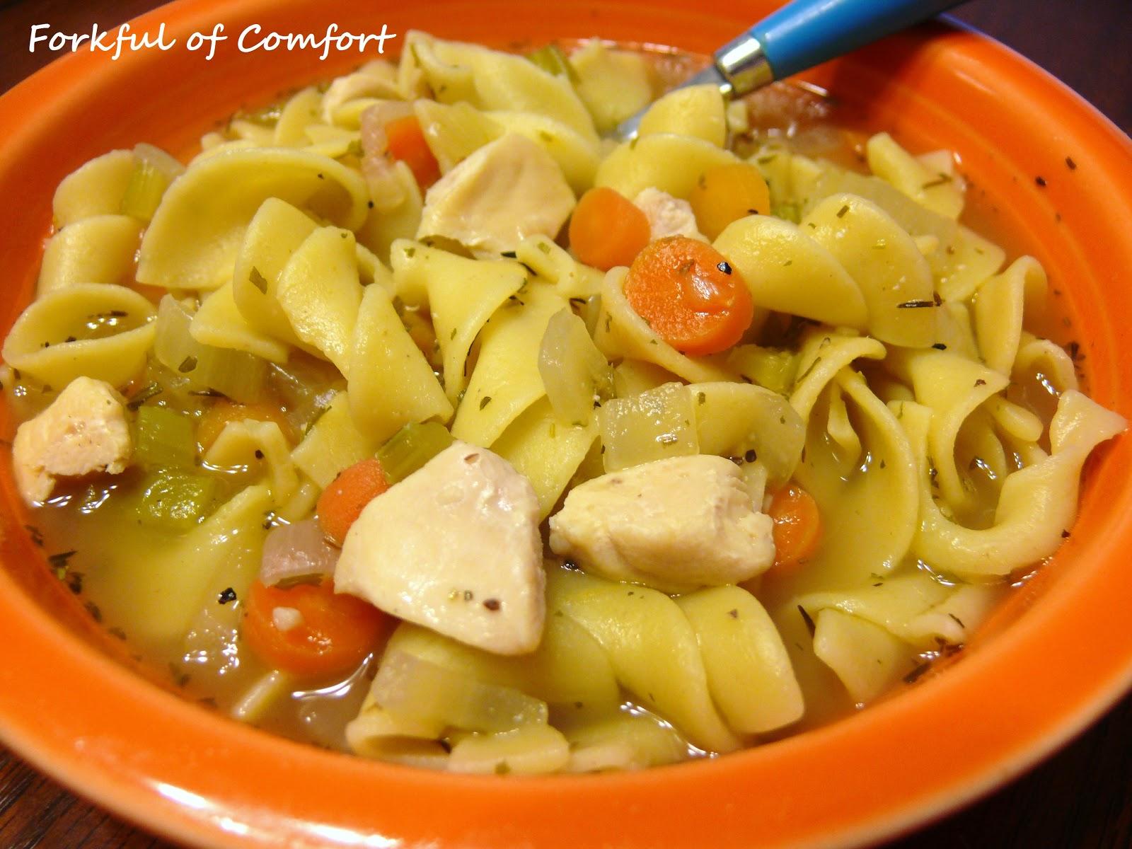 Forkful of Comfort: Chicken Noodle Soup