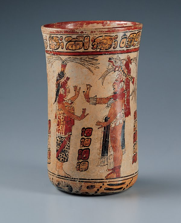 ¿Qué se dicen los mayas de esta vasija?