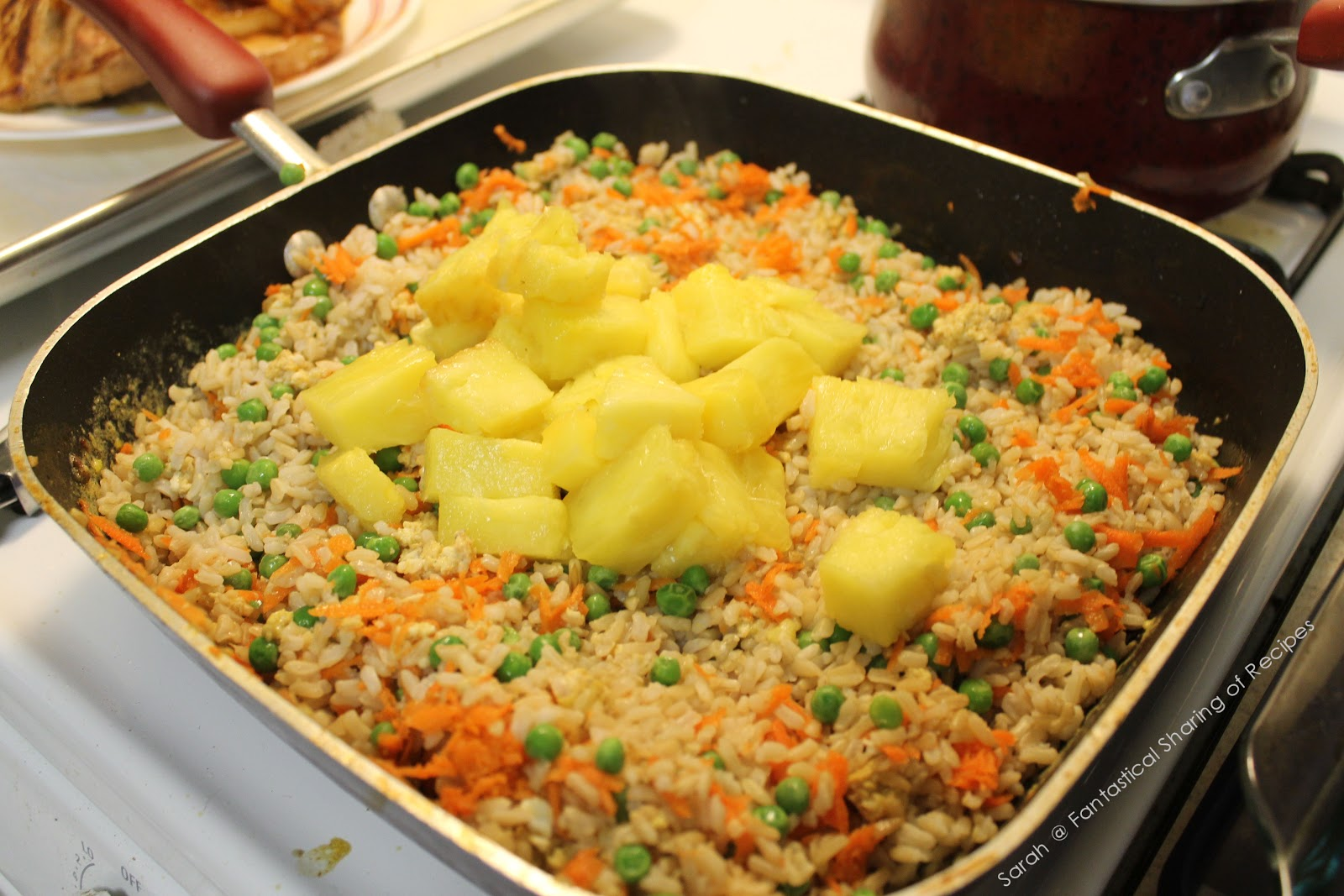 Fantastical Sharing of Recipes: Pork Chops and Pineapple Fried Rice
