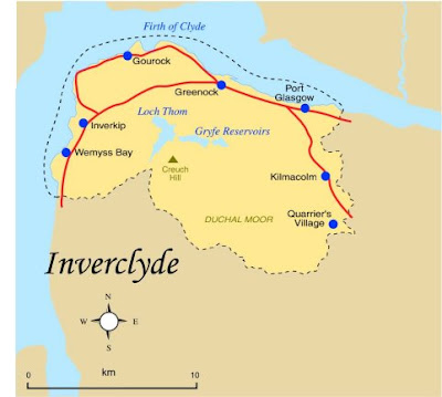 Map of Inverclyde Province Area