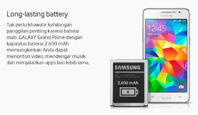 Kelebihan Baterai Samsung Galaxy Grand Prime