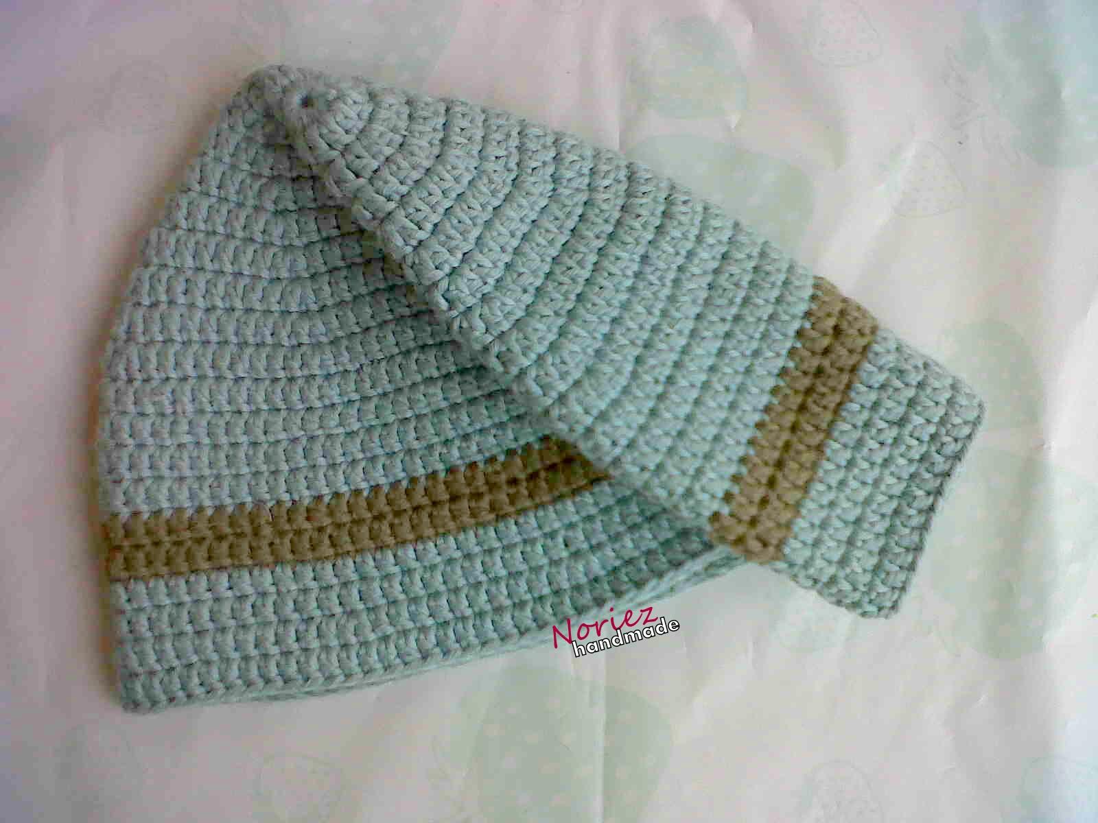 Free Pattern Crochet Kopiah : RajutMerajut: Pattern : Crochet Kopiah