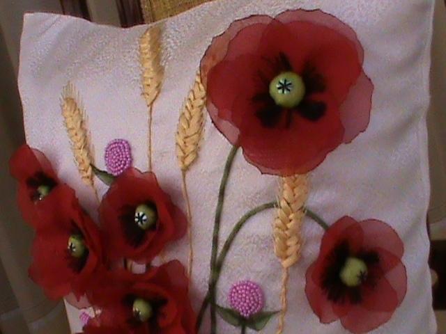 Поделки из ткани маки 5