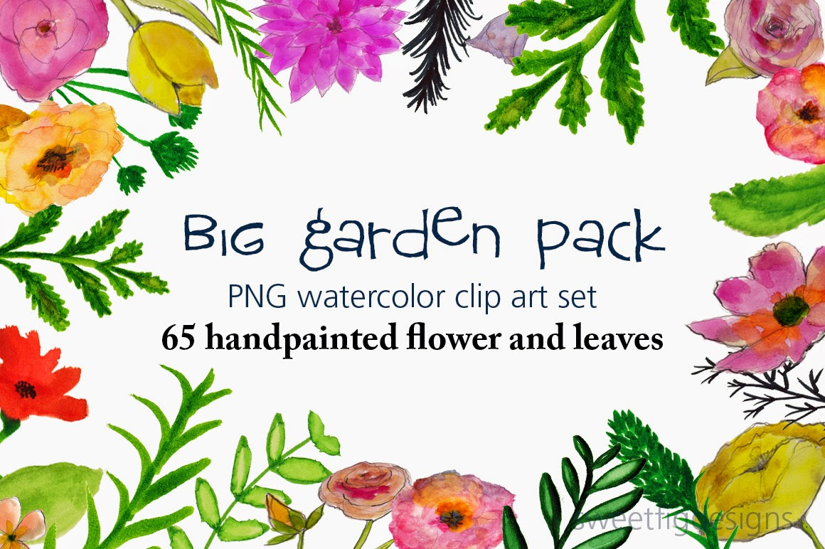 Cheryl Warrick ART: New clip art flower collection-Garden Pack