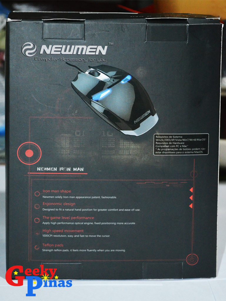 Newmen Iron man G306 Gaming Mouse
