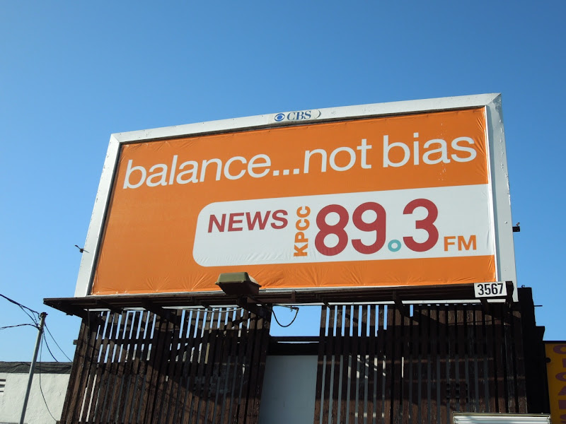 Balance not Bias radio billboard