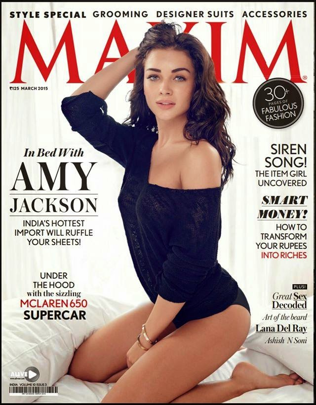 Amy Jackson Sizzling Pics froM Maxim India magazine April 2016 HQ Pics