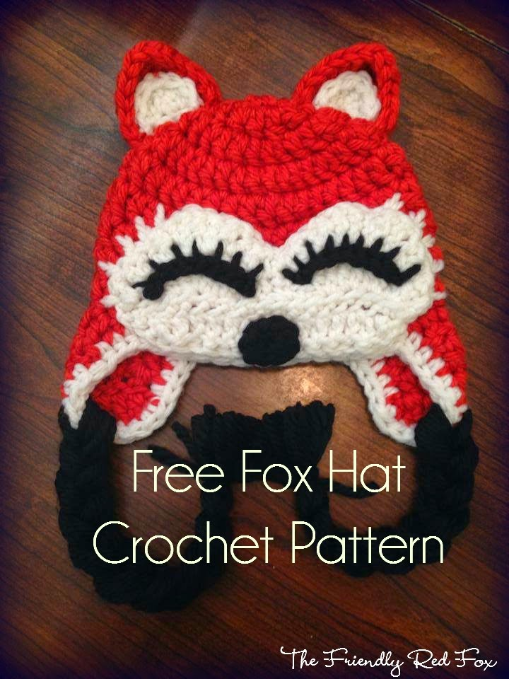 Free Crochet Fox Cowl Hat Pattern : Free Fox Hat Pattern - The Friendly Red Fox