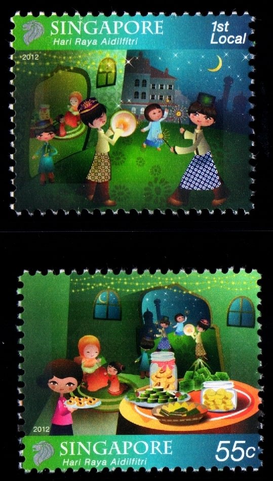Hari Raya Puasa (1st Local & 55¢ stamps)