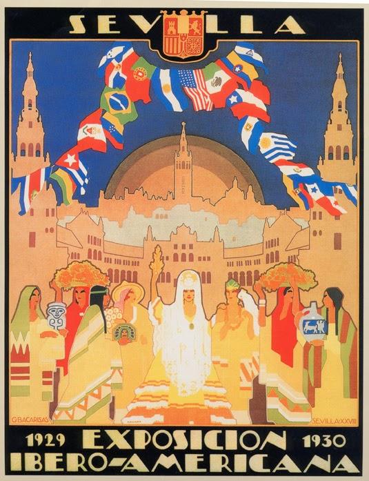 Cartel Oficial EXposición Iberoamericana de Sevilla 1929-1930