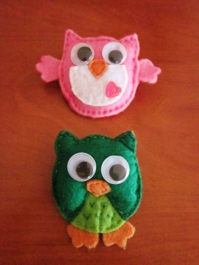 BROCHES DE FIELTRO: ANIMALITOS