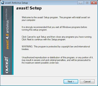 Installing Avast Antivirus