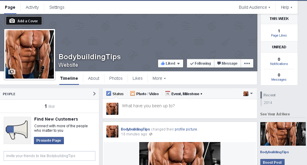 create facebook fan page blog