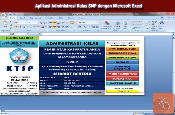 Aplikasi Administrasi Kelas SMP KTSP