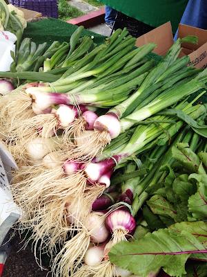 fresh produce spring onion