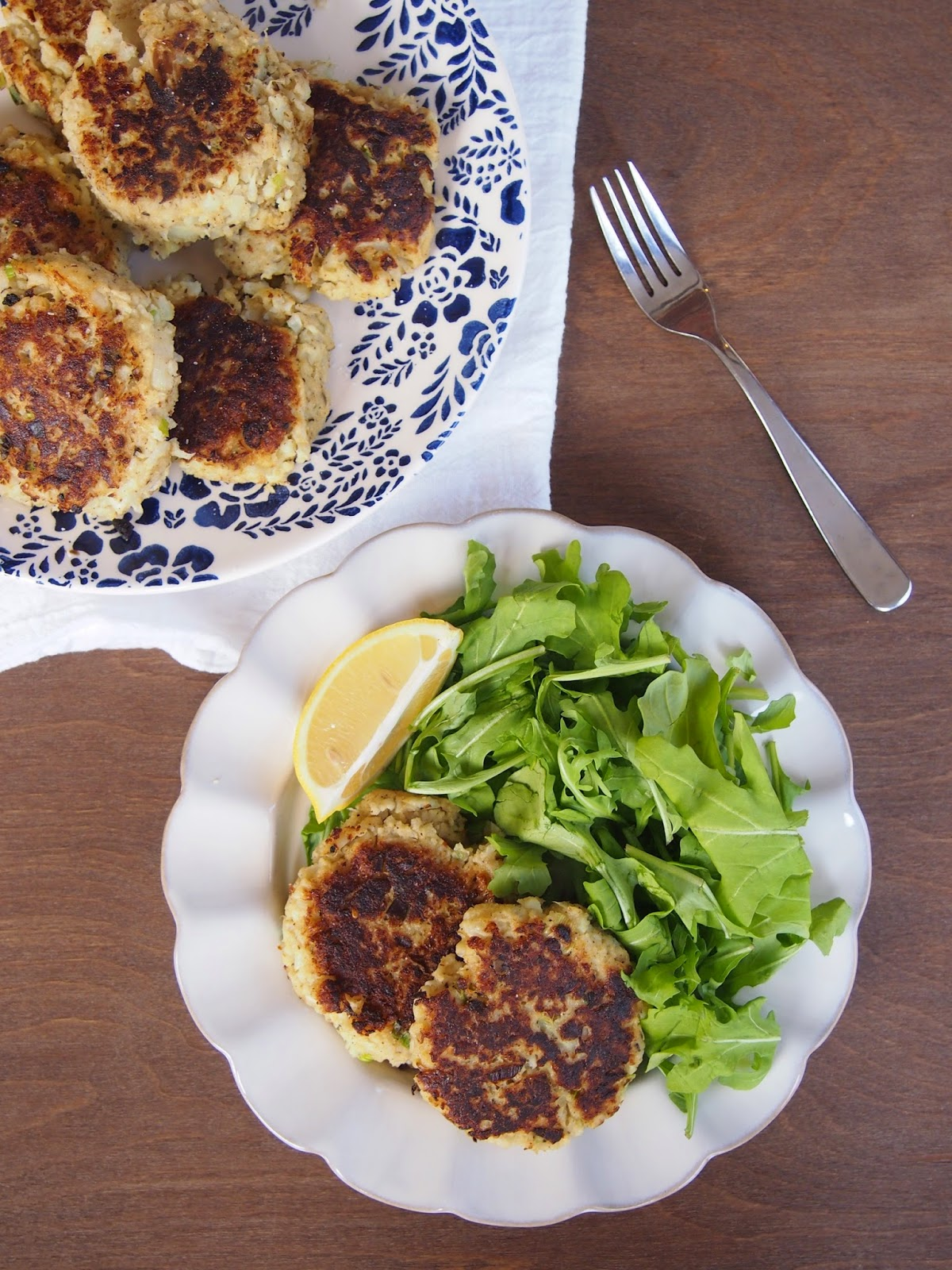 Scallion Cauliflower Fritters